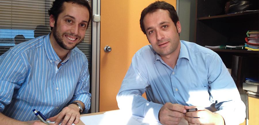 Firma del convenio entre BCA Asesores y SC Real Estate